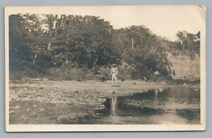 Ponce PR Riverside Men RPPC Puerto Rico—Rare Antique Photo Foto Tarjeta 1913