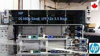 HP ProLiant DL380p G8 3.5 LFF 12 bays 2*E5-2620 12 Cores 16GB P420i 4*1GB
