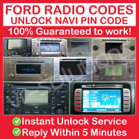 FORD NAVIGATION RADIO CODE EX FX NX HSRNS LSRNS HS MCA SAT TRAVELPILOT BLAUPUNKT