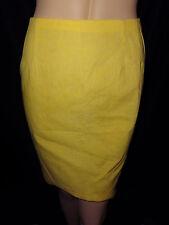 Vintage BRIGHT LEMON YELLOW Retro MOD 1960's Mini Skirt Small XS