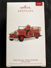 2018 Hallmark 1932 BUICK FIRE ENGINE Fire Brigade Truck Christmas Ornament 16th