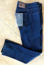 G Star Raw 3301 Deconstructed Slim Straight Jeans 36 x 34 Dark Rinse Denim NWT