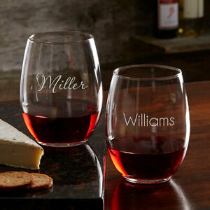 Personalized Stemless Wine Glass Free Shipping
