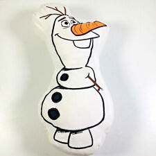 Disney Frozen 2 Olaf Character Cushion Shaped White Soft Plush Embroidered 16""
