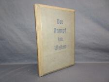 Vintage German 1940 Der Kampf im Westen Book w/100 Stereo-Photo Cards and Viewer