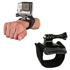 GOPRO HERO 5 4 SESSION 3+ 3 2 WRIST MOUNT BLACK ADJUSTABLE STRAP SKI DIVE SCUBA