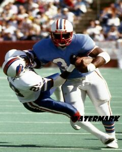 NFL 1980's  HOF Earl Campbell Houston Oilers Game Action Color 8 X 10 Photo