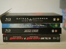 Dc & Sin City 1 & 2, Jusice League, Green Lantern, Batman vs Superman Blu Ray