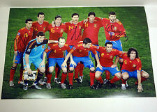 SPAIN 2010 WORLD CUP CHAMPIONS STARTERS TEAM SIGNED 12X18 PHOTO PEDRO PIQUE COA