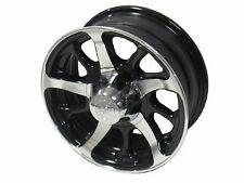 "16"" 6 Lug Series 08 Black Hi Spec Aluminum Trailer Wheel camper RV Stacker"