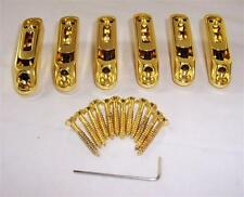 6 X Heavy Duty Bass Guitar Bridge Saddles/gold