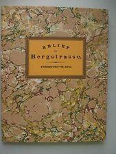 Relief der Bergstrasse Frankfurt 1831 von 1990 Reprint