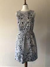 Mainline Matthew Williamson Silver Floral Dress Uk8