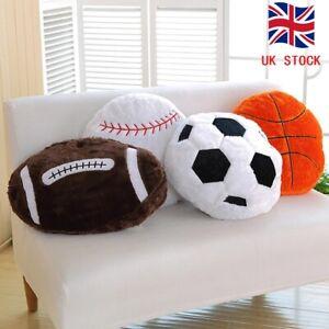 Soft Soccer Ball Doll Football Cushion Plush Pillow Stuffed Round Halloween Toy