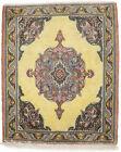 Vintage Classic Floral Design 2'0X2'5 Oriental Rug Handmade Wool Kitchen Carpet