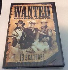 WANTED DEAD OR ALIVE: 13 Features (DVD,2014, 2 Disc Set, ACTION/ADV) WESTERNS