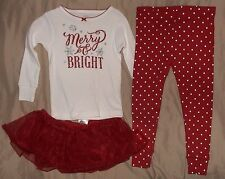 CARTERS RED & WHITE POLKA DOT 3 PIECE OUTFIT-MERRY & BRIGHT-SIZE 24 MONTHS-NWT