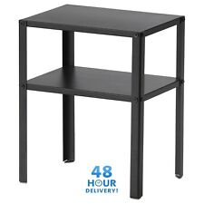 Bedside Cabinet IKEA KNARREVIK Black Metal Coffee Table With Shelf 37x28cm