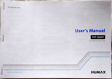 New Humax FVP-4000T Colour Printed A5 Paper Copy User Manual Instruction Booklet