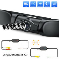 Wireless Car License Plate Front Rear View Reverse Backup Camera HD Night Vision