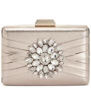 INC International Concepts Majaa Gold Metallic Clutch Minaudiere Handbag Evening