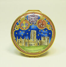 Halcyon Days 900th Anniversary of Durham Cathedral Enamel Box - 60/250