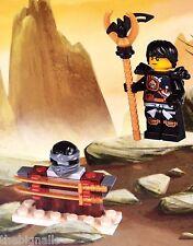 LEGO NINJAGO  Mini Figure COLE with Weapons Rack new