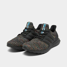 Men's Adidas Ultra Boost Running Shoes Black / Green Multicolor Sz 8 G54001