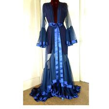 Bridal Sleepwear Nightgown Satin Ribbon Women Sheer Long Robes Wedding Spa Show