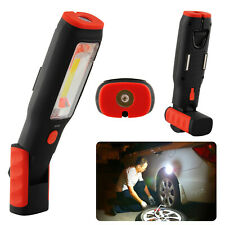 COB LED Work Light Work Shop Night Inspection Lamp Hand Torch USB Rechargeable