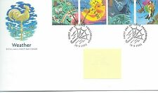 GB - FIRST DAY COVER - FDC - COMMEMS -2001- WEATHER - Pmk Fraserburgh
