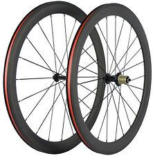 50mm Clincher Carbon Bicycle Wheelset 700C Carbon Touring Front&Rear Rims Wheels