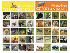 Lot Of 80 Stickers Wild Animals Zoo Animals Safari For Scrapbooking Art Projects