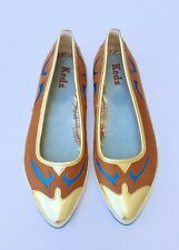 Keds Western Flats Shoes Womens Brown Leather Almond Toe Pointed Comfort 9.5