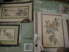 Leisure Arts Feathered Friends Cross Stitch Chart- Cardinal/Blue Jays/Chickadees