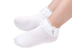 First Holy Communion/Confession/Pageant Occasion Ankle Socks with diamante Cross