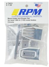 RPM R/C Products Accessory Part 73413 Mock Intake and Blower Engine Set - Chrome