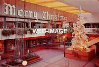 1950s MERRY CHRISTMAS SOUTHDALE CENTER FIRST INDOOR SHOPPING MALL PHOTO EDINA MN