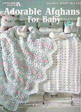 Crochet Baby Afghans in 5 Adorable designs ~  Leisure Arts leaflet 2421
