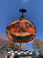 Vintage Silvestri HALLOWEEN GREAT PUMPKIN Jack O Lantern Candle Holder ❤️sj5m1s