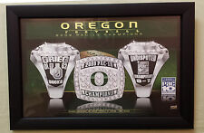 2009 Oregon DUCKS Football Player CHAMPIONSHIP RING POSTER & Frame TEAM ISSUED