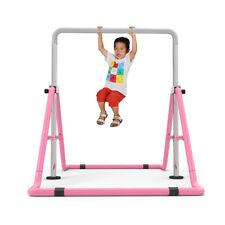 Gymnastics High Bar Sporting Steel & PE Training Equipment Uneven Bar Home Pink