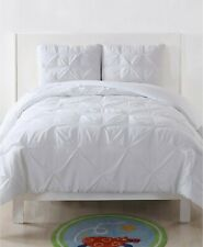 My World 3 Piece Full/Queen Comforter Set Pleated White J06172