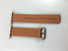 Original Genuine Apple Watch Woven NYLON Band Gold buckle 38MM 40MM Gold/Red OEM