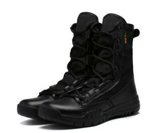 Men's High Top Non Slip Resistant Military Outdoor Ankle Boots Work Shoes