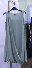 Papaya Slate Grey Sleeveless Dress Bubble Hemline UK sz 10