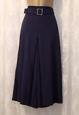 Karen Millen Wide Leg Flare Culottes Pantalon Jupe Bleu 10 38