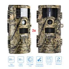 2X 20MP 1920X1080P Hunting Trial Camera Farm Security Cam Infrared o.4s Trigger