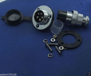 2PCS GX20 5-Pin Aviation plug & socket flange Radio 20mm Panel mount waterproof