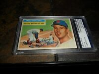 1956 TOPPS #315 MILT BOLLING Psa/dna Signed BOSTON RED SOX Autograph  D.2013